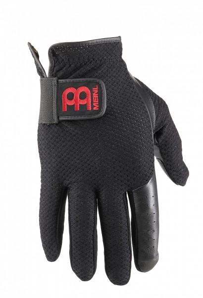 MEINL Cymbals Drum Gloves mit rotem Logo - schwarz Größe L (MDG-L)