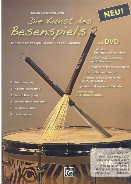"Florian Alexandru-Zorn ""Die Kunst des Besenspiels"" Lehrbuch inkl. DVD - Deutsch (LEHRB-010)"