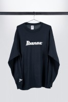 "Black Ibanez longsleeve with white ""Ibanez"" logo (ITL7LGBK)"