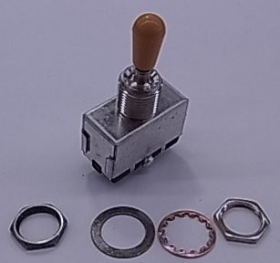 IBANEZ 3-Wege Schalter - für Hollowbodies antique chrom ivory (3SW12A0005)