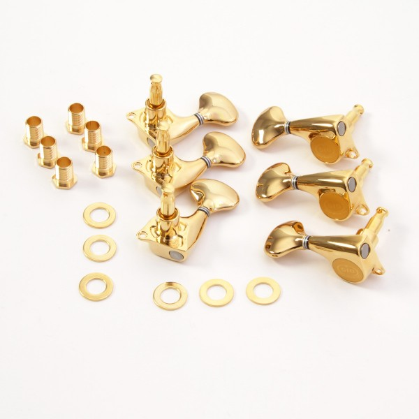 IBANEZ closed machine head set (set of 6) - gold for PM100/PM120/GB200 (MBG5100G)