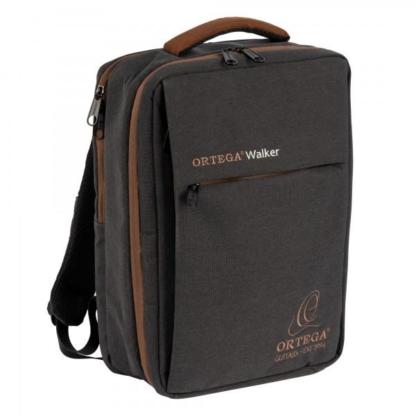 """ORTEGA Backpack """"Walker"""" - gray /brown (OWBP)"""