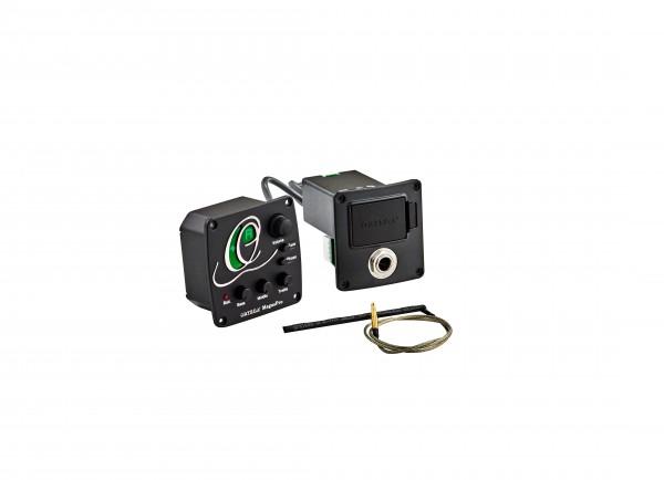 ORTEGA Preamp mit eingebautem Tuner - für Nylonsaiten- und Akustikgitarren (MAGUSPRO/G)
