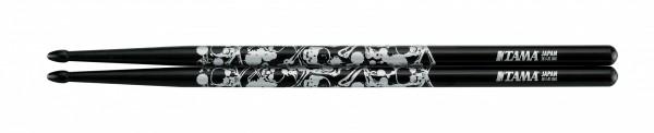 TAMA Sticks of Doom Series Drumsticks - 5B-S-BS - Black, Silver Pattern (TAMA-O5B-S-BS)