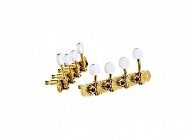 ORTEGA Mandolin, F-style, premium, white buttons - Gold (OTMMAPREM-GO)