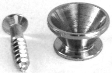 Strap Pin Chrome, diameter 13,7mm, H=7,7mm, amongst others suitable for RMAE20BK, RMAE20LBK - chrom (OER-21000)