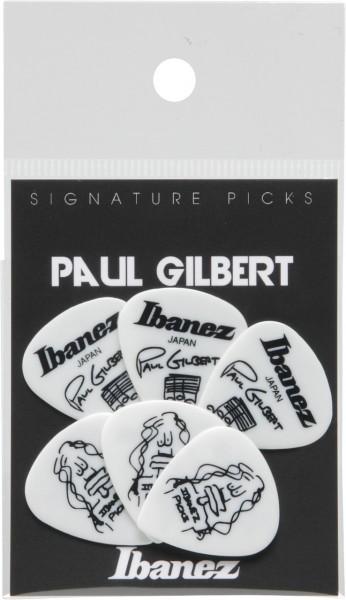 IBANEZ Picks Signature Series - Paul Gilbert - 6 pcs. (B1000PG-WH)