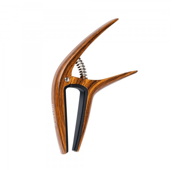 ORTEGA Twincapo 2 in1 for curved and flat fretboards - Walnut Design (TWCAPO-WND)