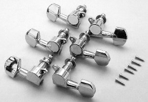 IBANEZ single tuning machine right version die-cast L3/R3) - chrome for AF/ART/AS models (2MH12A0003-R)
