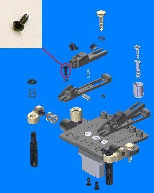 IBANEZ Saddle lock down screw für ZR Tremolo Schwarz (2ZR2-5)