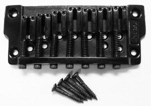 IBANEZ feste Brücke Gibraltar Standard - schwarz, für 7-Saiter. (2GB2JAA028)