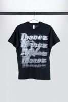 """Ibanez T-Shirt in schwarz mit weiß aufgedrucktem """"Spray Paint"""" Logo auf der Brust (IT10BKET)"""