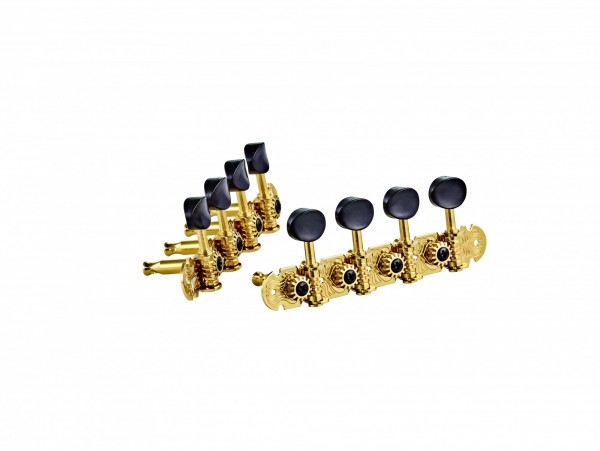 ORTEGA Mandolin, A-style, deluxe, black buttons - Gold (OTMMADLX-GO)