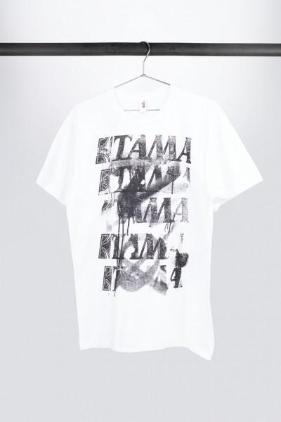 TAMA T-Shirt in weiß mit Spray Paint Frontprint (TT10GHET)