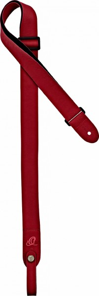 ORTEGA Vegan Series Ukulele Strap - Red + Bonus CONNECT-XX (OSVU-RD)
