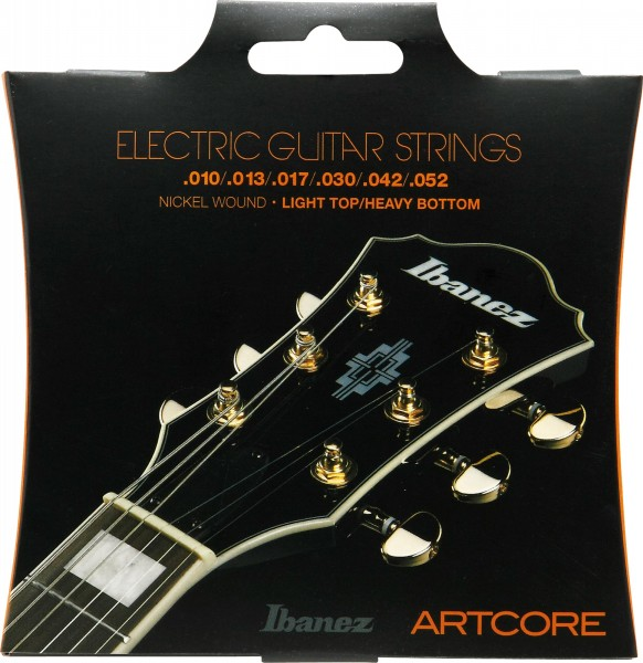 IBANEZ String Set Electric Guitar Artcore Nickel Wound 6-String - for Semi Hollow Bodys / light top heavy bottom 10-52 (IEGS62)