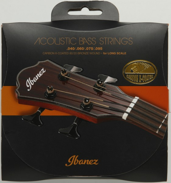 IBANEZ String Set for Acoustic Bass 4 String - .040 / .060 / .075 / .095 80/20 Bronze (IABS4XC)