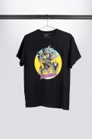 "IBANEZ T-Shirt in schwarz mit buntem ""Vultures"" Frontprint (IT313)"
