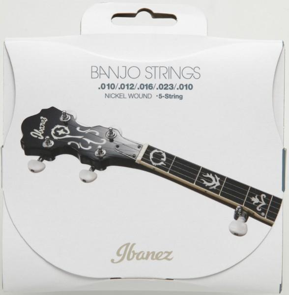 IBANEZ String Set for 5 String Banjo - .010/.012/.016/.023/.010 Nickel Wound (IBJS5)
