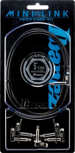 IBANEZ PA Serie (Standard) Instrumentenkabel -Patch Kit 1.53m / 5ft Kabel + 5 x abgewinkelter Stecker (PA01K5L)