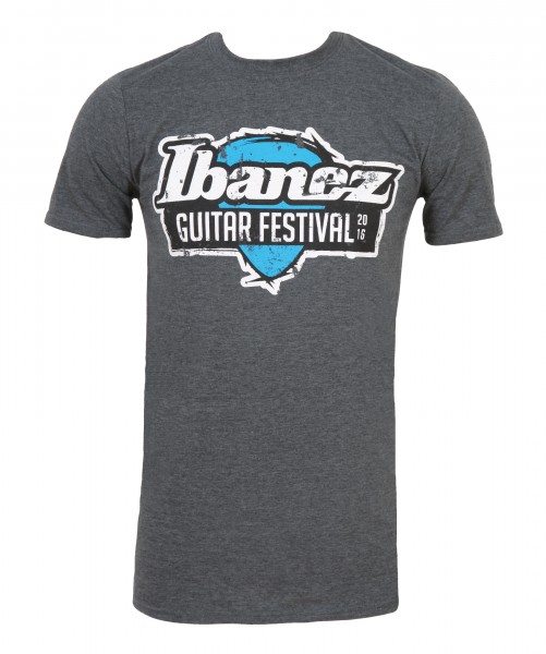 IBANEZ T-Shirt in grau mit Ibanez Guitar Festival 2016 Aufdruck (IGF16-TS)