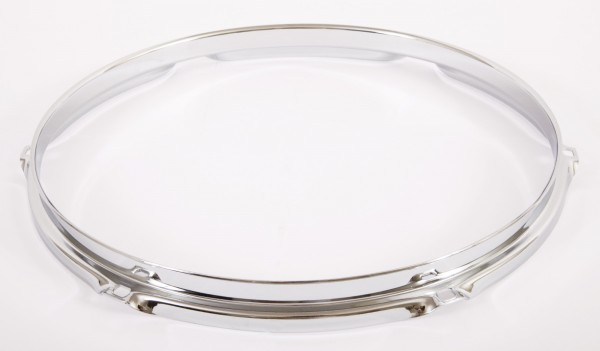 """Tama hoop batter side 12"""" triple flanged 1,6 mm in chrome - 6 hole (MFH12-6)"""