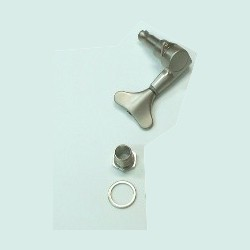 Ibanez die-cast single tuning machine left, silver-colored for 5-string bass BTB405QM (2MH1CB223S-L)
