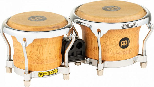 "MEINL Percussion Free Ride Mini Holzbongos - Super Natural 3 1/2"" MACHO & 4 1/4"" HEMBRA (FWB100SNT-M)"