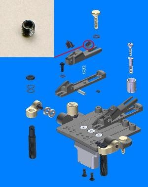 IBANEZ holder block lock bolt - for ZR M 6 x 6 mm (2ZR2-4)