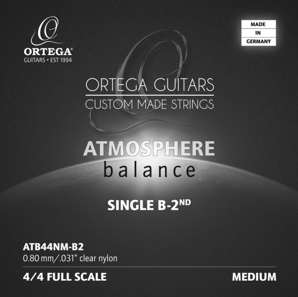 ORTEGA Atmosphere Balance Series String - Medium Tension Clear Nylon 0.31 (ATB44NM-B2)