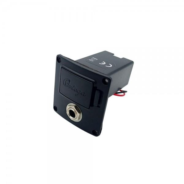 Batteriefach 9V / Klinkenbuchse (Chrom) Fishman Ortega (OER-10010)