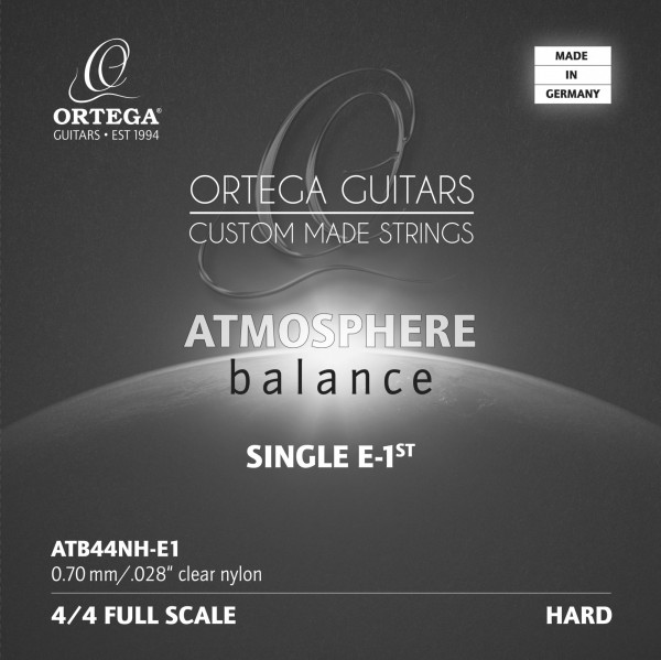 ORTEGA Atmosphere Balance Series Nylon String - High Tension Clear Nylon 0.28 (ATB44NH-E1)