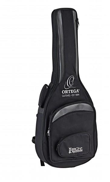 ORTEGA Ben Woods Signature Gitarre Reversed Headstock Nylon 6 String + Ben Woods Gigbag - Fishman-ORTEGA Clasica Blend System mit XLR Output (FLAMETAL-TWO)