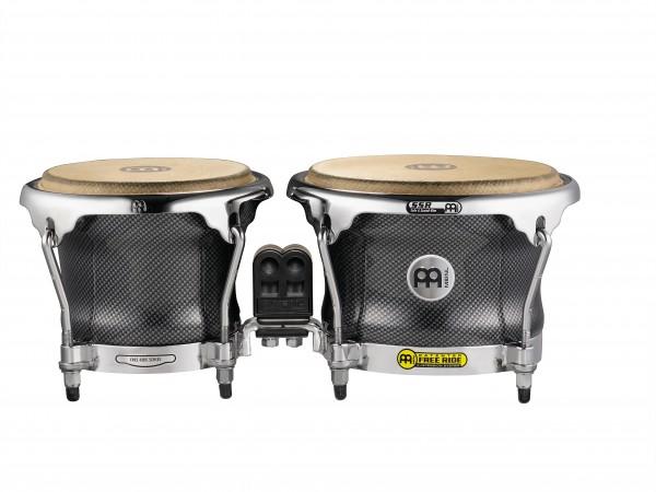 """MEINL Percussion Fibercraft Designer Series Bongo - 7"""" + 8 1/2"""" Carbon Finish (FFB400CA)"""