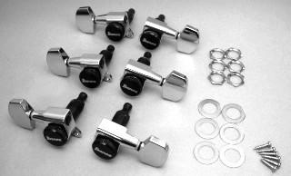 IBANEZ big-button machine head set L*3 R*3 - cosmo black for ART600 (2MH3MA0003)