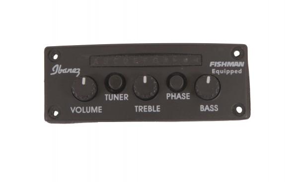 IBANEZ Tonabnehmersystem AEQ210T - mit Fishmanlogo und Stimmgerät (5AEQ68F)