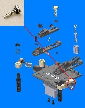 Ibanez intonation adjustment bolt for ZR tremolo (2ZR2-8)