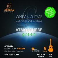 ORTEGA Atmosphere Green Series Gitarrensaiten Organic Nylon Treble - Medium + Extra D Saite (ATG44NM)