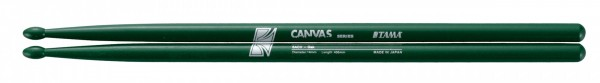 Tama Drumstick 5A Pair Canvas Series japanese Oak with printing 406mm, 14mm - Green (TAMA-O5ACV-DG)