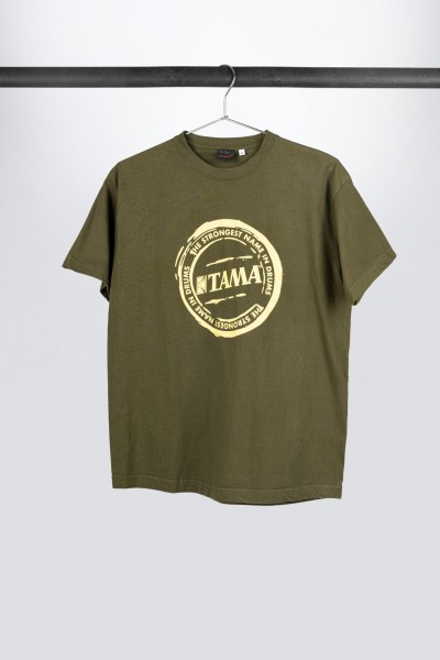 "TAMA T-Shirt in dunkelgrün mit ""The Strongest Name"" Logo (TT210)"