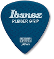 IBANEZ Grip Wizard Series Rubber Grip Flat Pick - blue 6 pcs. (PPA16HRG-DB)