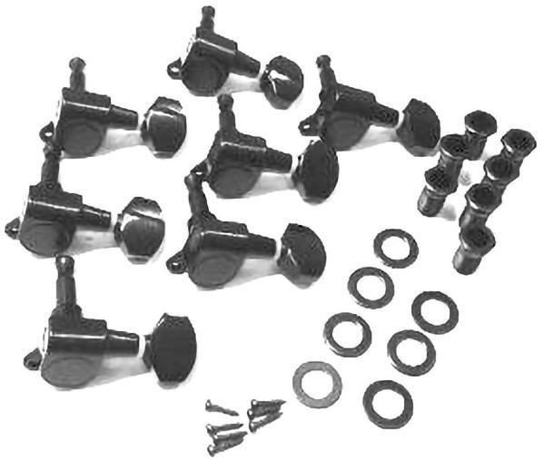 IBANEZ Mechanikensatz Links x7 - Die Cast black (2MH2YA0009)