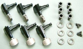 IBANEZ machine head SGMM38-07 - for JEM7V-SBL 2002/02 - 2004/10 Vintage Silver + Black (MB500V)