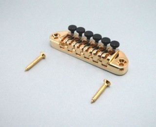 IBANEZ Quick Change tailpiece ultra - gold tone with fine tuning (2QC1HFTG)