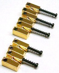 IBANEZ saddle for EB10 bridge - gold suitabel for DWB35 5 pcs. set (2BB2EB10G5)