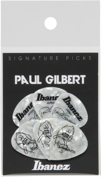 IBANEZ Picks Signature Series - Paul Gilbert 6 Stück - Pearl White 1,0mm heavy (B1000PG-PW)