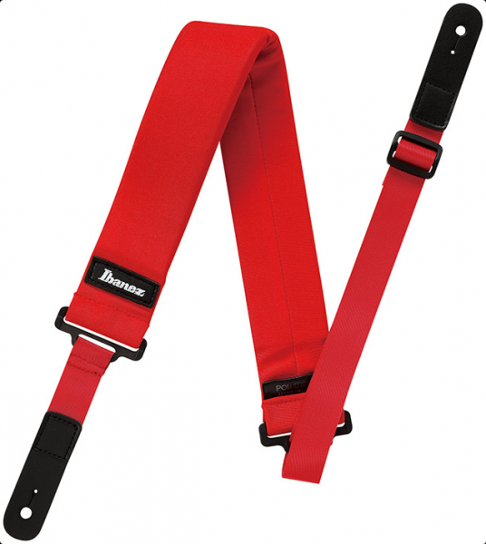 IBANEZ Powerpad Guitarstrap Short Version - Red (GSF50S-RD)