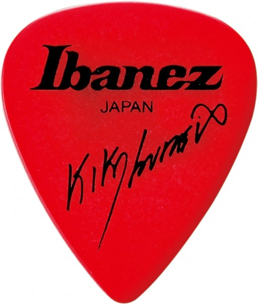 IBANEZ Kiko Loureiro Signature Picks 1,2mm Polyacetal 6 Stück - rot (B1000KL-RD)