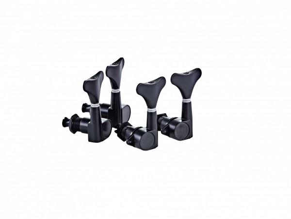 ORTEGA Akustik/Elektrik Bassmechaniken-Set Standard, Die-Cast, 2+2 - Schwarz (OTMEB22-GB)