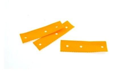 HARDCASE Textile Strap Yellow - Short 105mm x 30mm (P707)